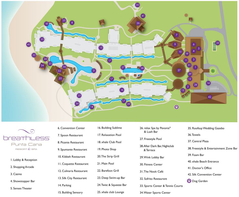 Map Layout Breathless Punta Cana Resort & Spa
