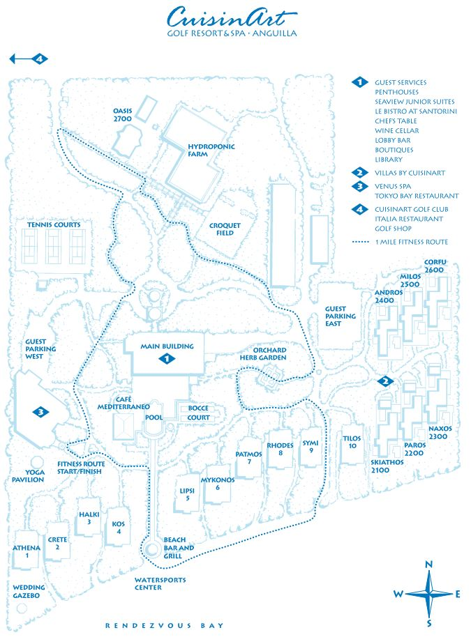 Map Layout Cuisinart Resort & Spa