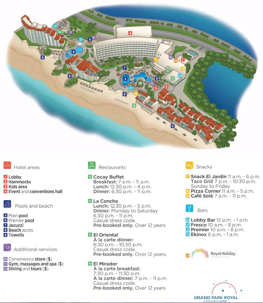 Cancun Map on
