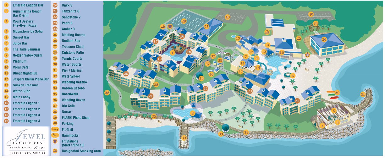 Map Layout Jewel Paradise Cove beach resort & spa