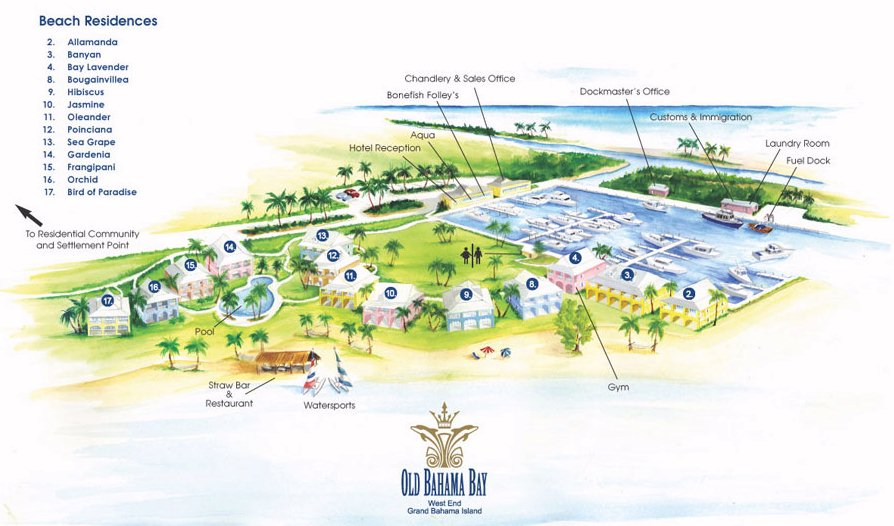 bahama bay resort map Resort Map Old Bahama Bay Resort Bahamas bahama bay resort map