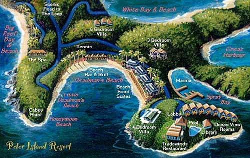 Map Layout Peter Island Resort