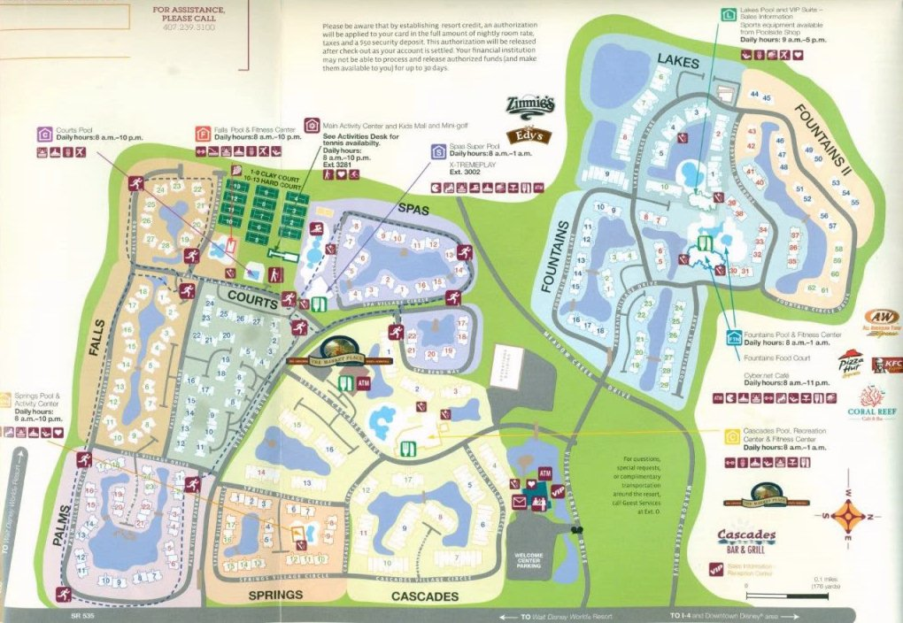 Map Layout Sheraton Vistana Resort Villas, Orlando