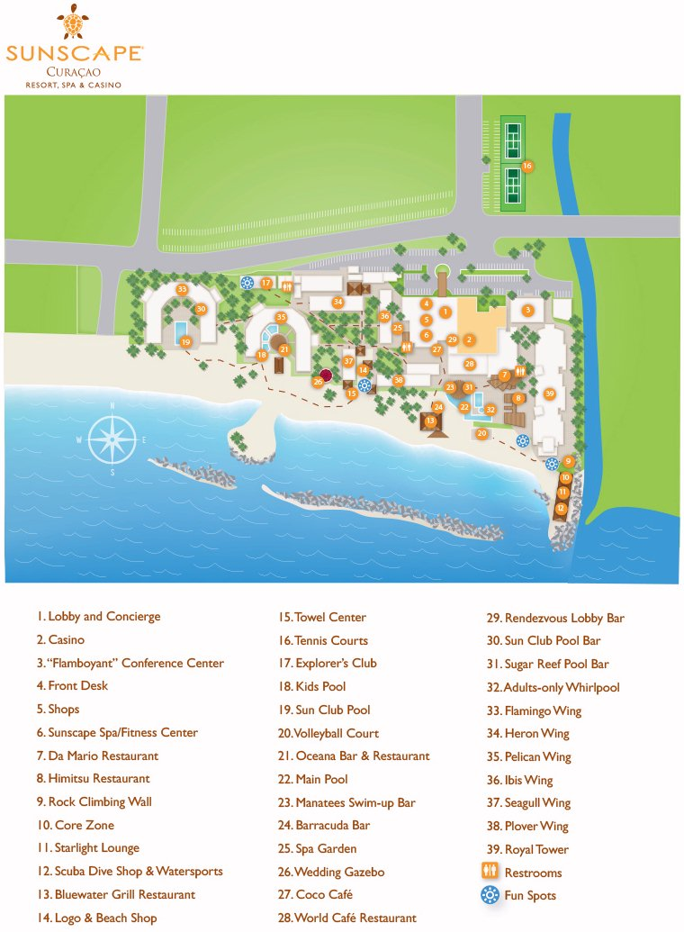 Map Layout Sunscape Curacao (ex. Breezes Curacao)
