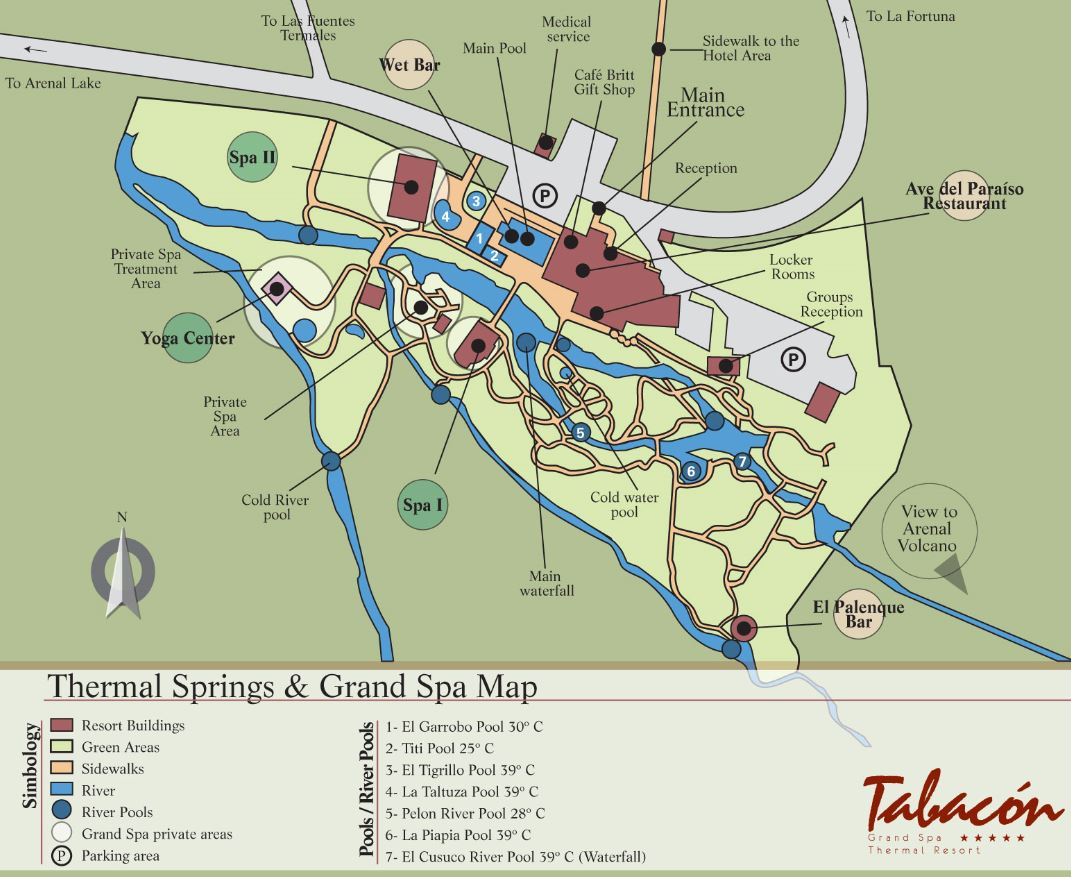 Map Layout Tabacon Resort