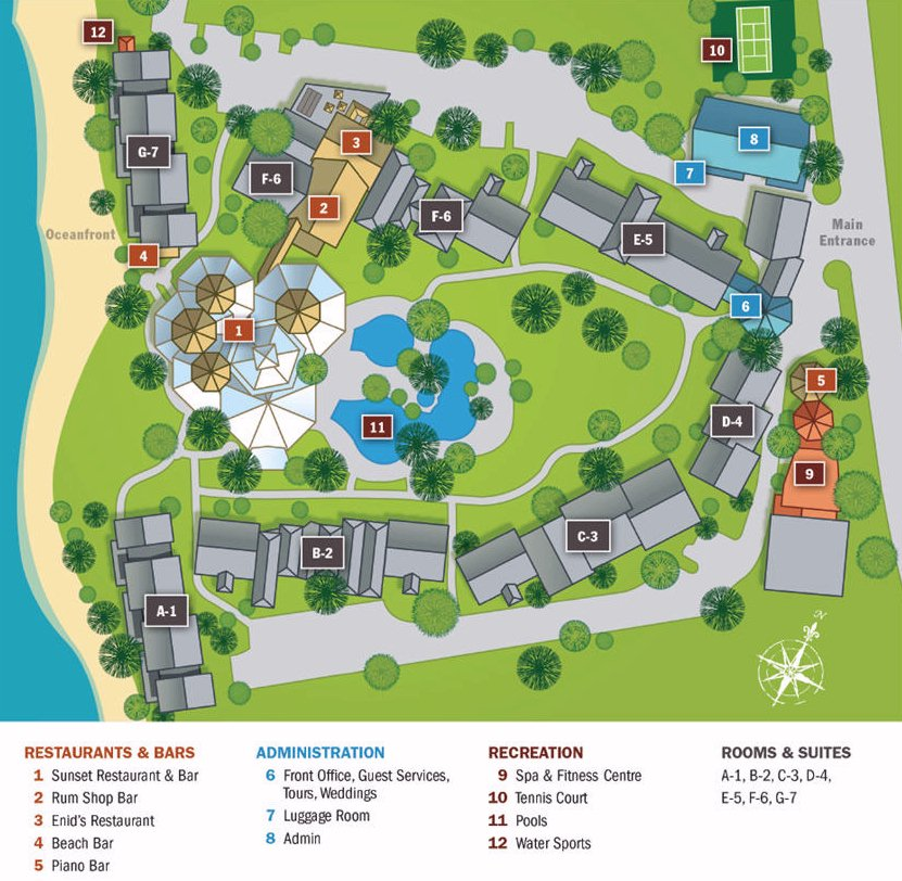 Map Layout The Club Barbados Resort & Spa