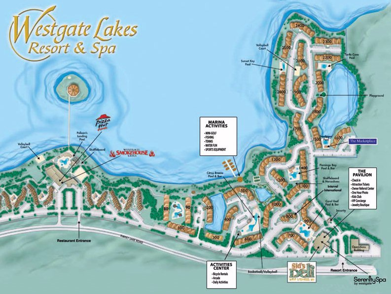 Map Layout Westgate Lakes Resort & Spa, Orlando