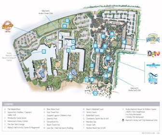 Aruba Marriott Resort & Stellaris Casino Resort Map Layout
