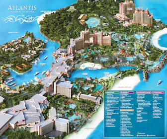 The Cove Atlantis resort Map Layout
