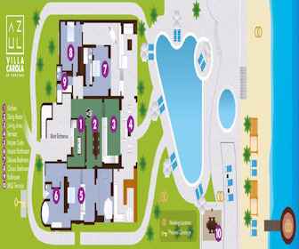Azul Villa Carola Resort Map Layout