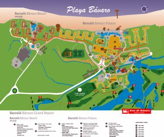 Barcelo Bavaro Palace Resort Map Layout
