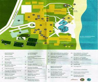 Barcelo Huatulco Resort Map Layout