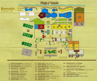 Barcelo Ixtapa Resort Map Layout