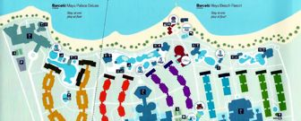 Barcelo Maya Tropical Resort Map Layout