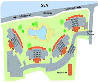 Beach View Hotel Resort Map Layout
