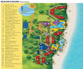 Beaches Negril Resort & Spa Map Layout