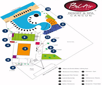 Bel Air Collection Hotel & Spa Map Layout