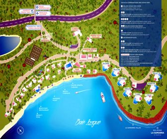 Belmond La Samanna Resort Map Layout