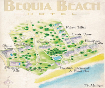 Bequia Beach Hotel Luxury Resort & Spa Map Layout