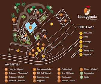 Binniguenda Huatulco Resort Map Layout