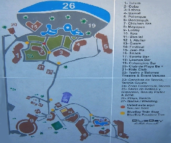 Blue Bay Grand Esmeralda Resort Map Layout