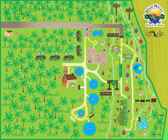 Blue River Resort & Hot Springs Map Layout