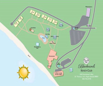 Bluebeard's Beach Club and Villas Resort Map Layout