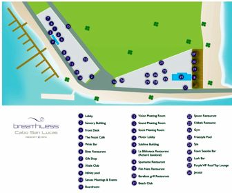Breathless Cabo San Lucas Resort Map Layout