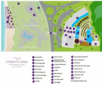 Breathless Montego Bay Resort Map Layout