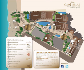 Cabo Villas Beach Resort Map Layout