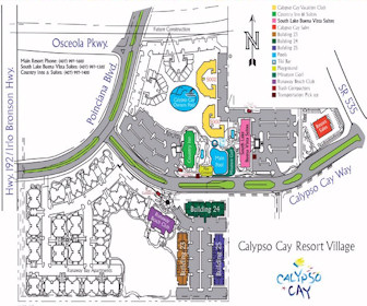 Calypso Cay Resort Village Map Layout