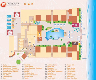 Canto Del Sol Plaza Vallarta Resort Map Layout