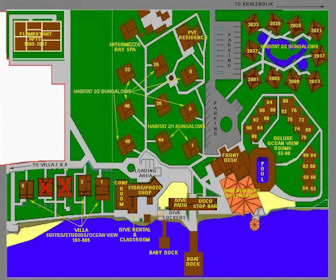 Captain Don's Habitat Resort Map layout