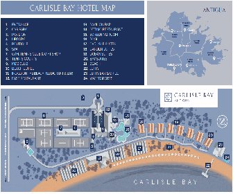 Carlisle Bay Antigua Resort Map Layout