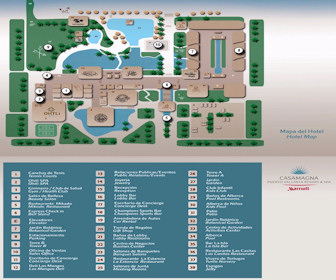 CasaMagna Marriott Puerto Vallarta Resort Map Layout