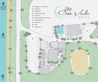 Casa Verde Hotel Map Layout