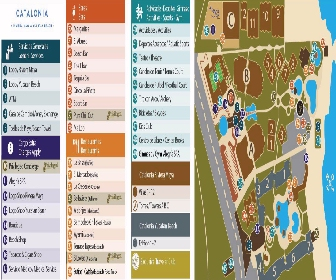 Catalonia Riviera Maya and Catalonia Yucatan Beach Resort Map layout
