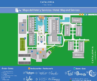 Catalonia Royal La Romana Resort Map Layout