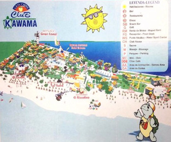 Club Kawama Resort Map Layout