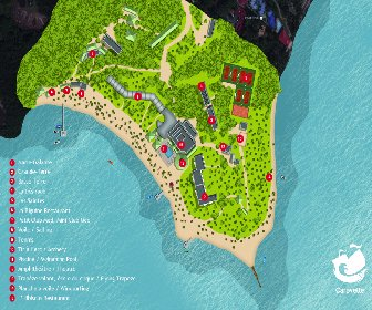 Club Med Caravelle Resort Map Layout