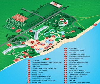 Coconut Bay Resort & Spa Map Layout