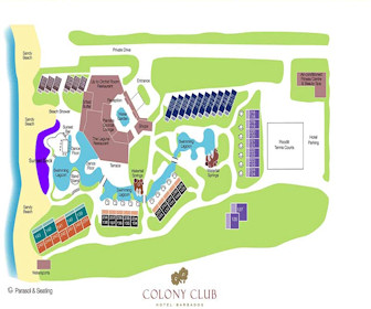 Colony Club Resort Map Layout