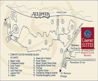 Comfort Suites Paradise Island Resort Map Layout