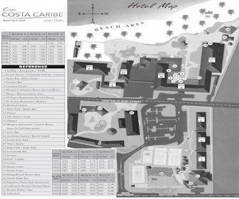 Coral Costa Caribe Resort Map Layout