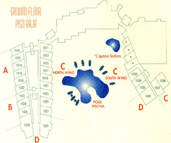 Costa Linda Beach 1st Floor Resort Map Layout