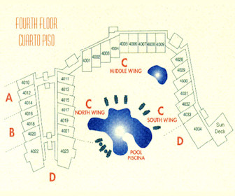Costa Linda Beach 4th Floor Resort Map Layout