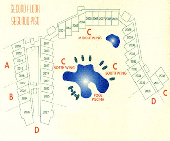 Costa Linda Beach 2nd Floor Resort Map Layout