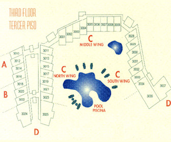 Costa Linda Beach 3rd Floor Resort Map Layout