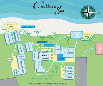Cottages by the Sea Resort Map Layout