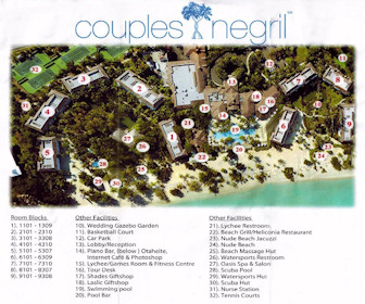 Couples Negril Resort Map Layout